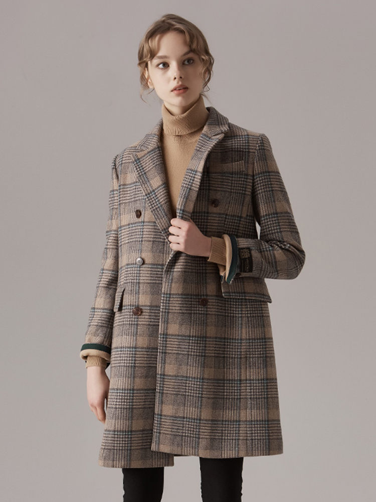 经典格兰格意大利进口面料毛呢大衣