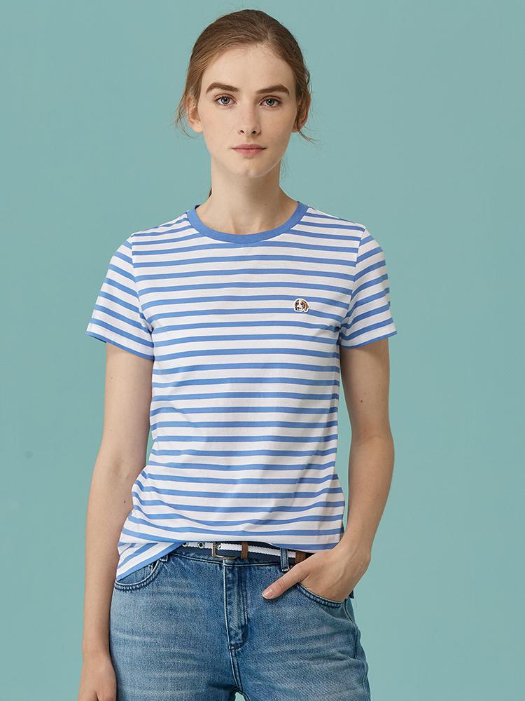 100%棉PHIZ系列条纹休闲T恤