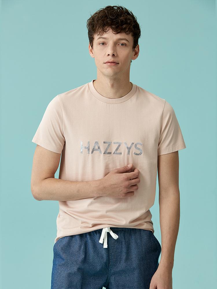 hazzys字母全棉圆领T恤