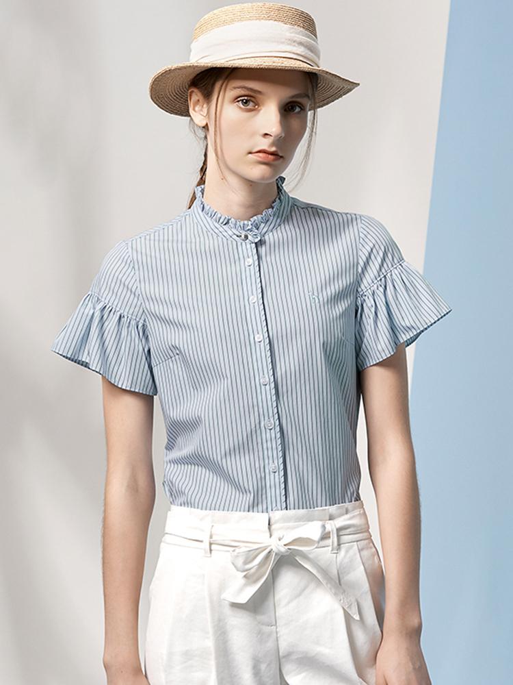 19SS波托菲诺之爱条纹短袖衬衫