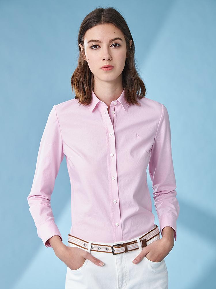 素色牛津纺长袖衬衫