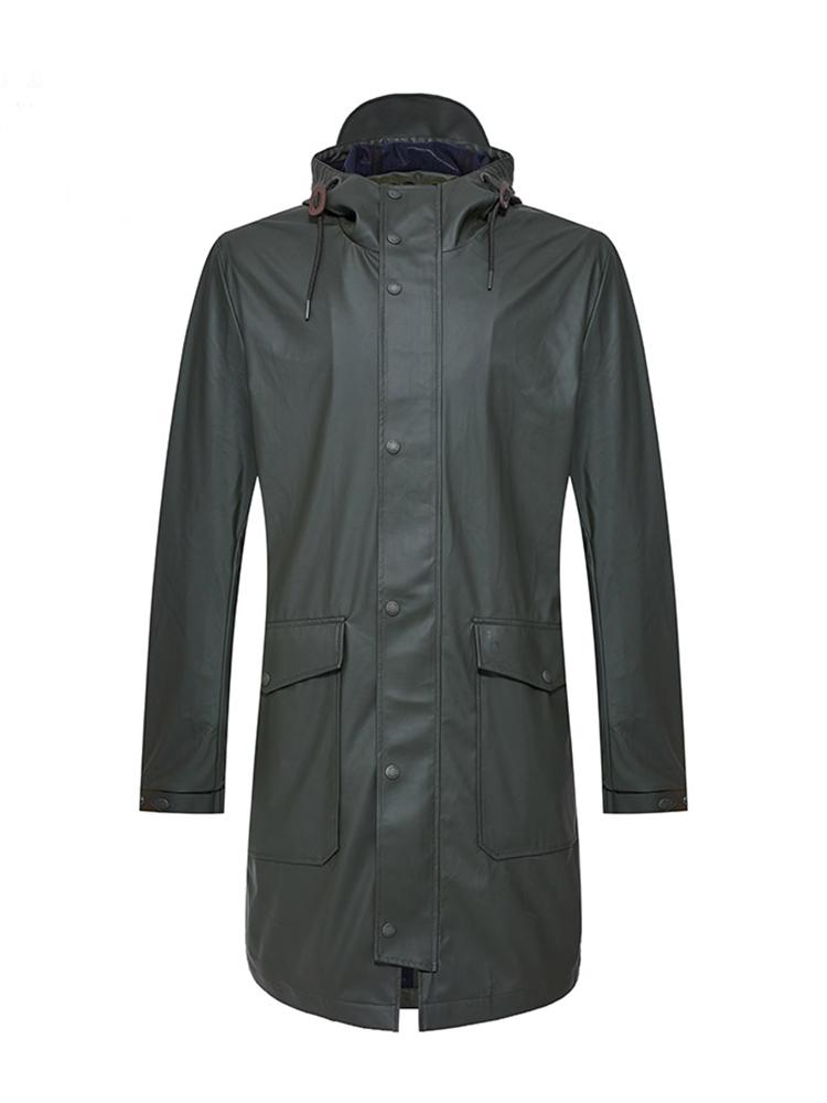 户外防雨连帽中长款风衣