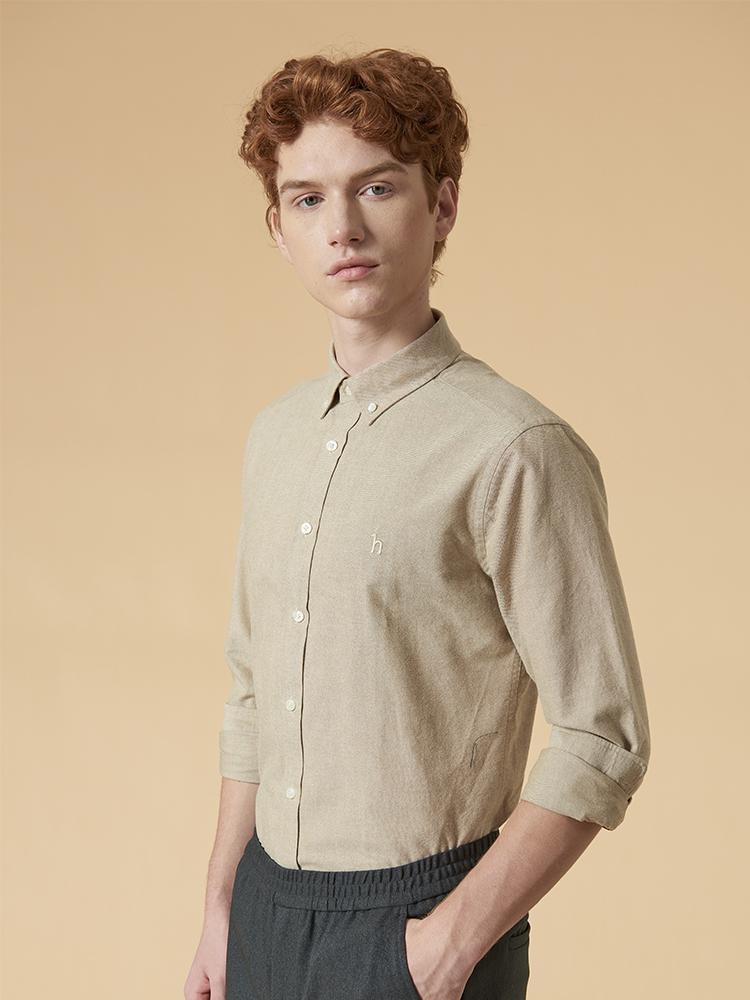 纯色长袖衬衫