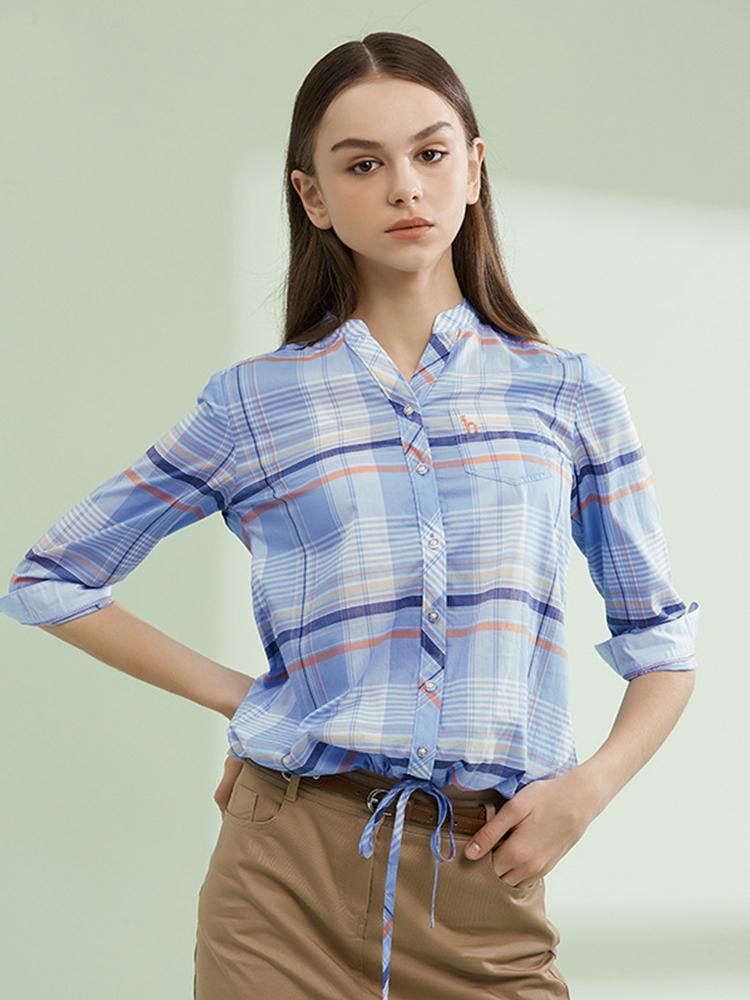 19SS波托菲诺之爱格纹七分袖衬衫
