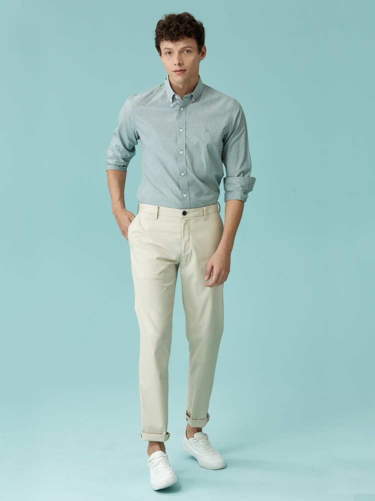 太极石成分斜袋长裤