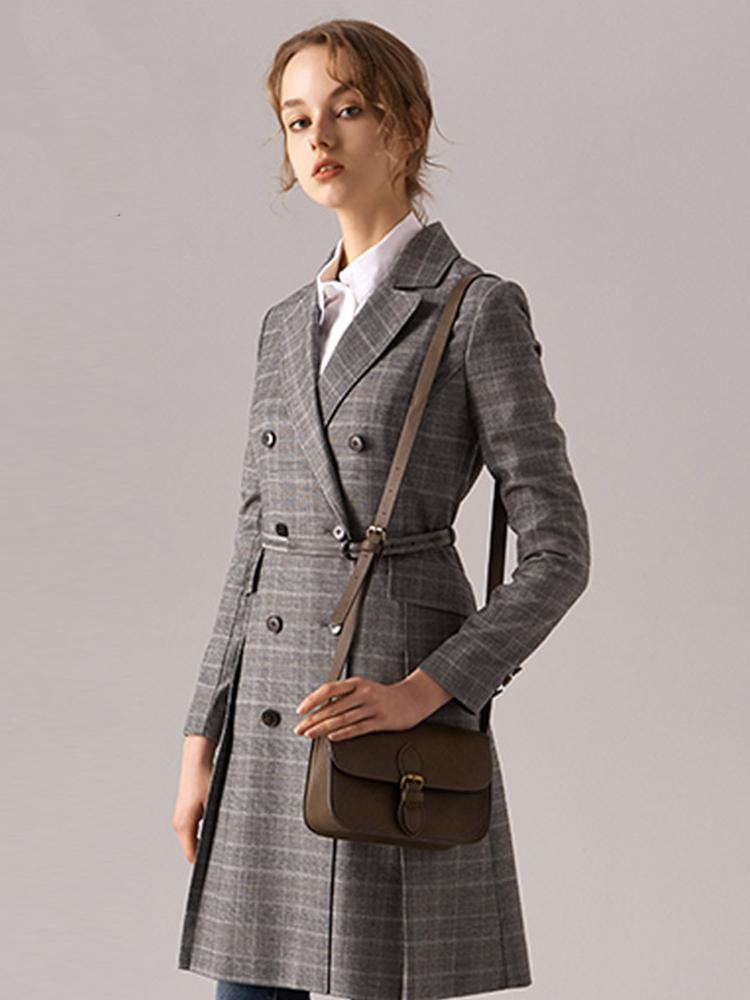 日本进口羊毛混纺西装裙