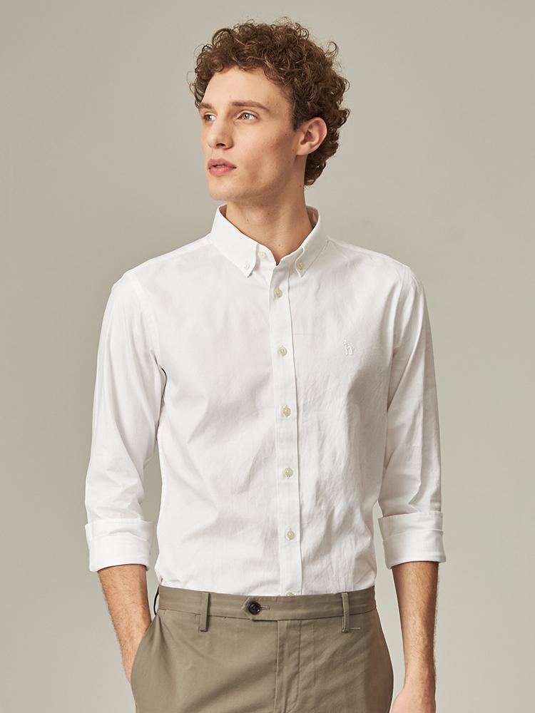经典青年布长袖衬衫
