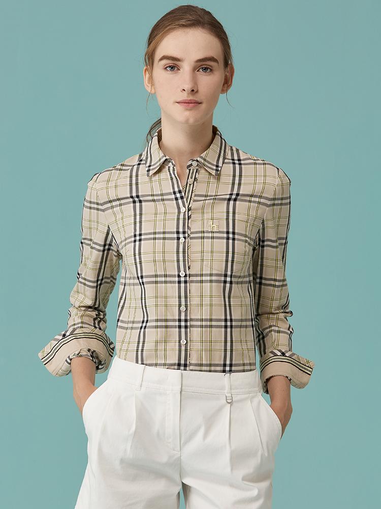 HAZZYS南肯辛顿格纹纯棉衬衫