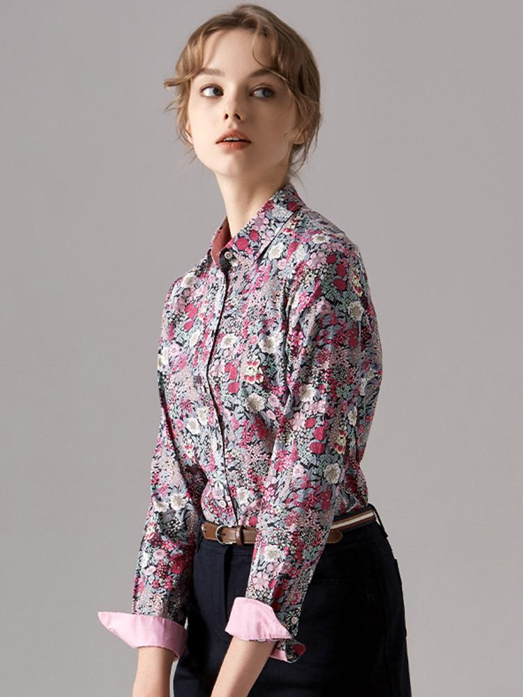 英国LIBERTY印花塔娜棉衬衫