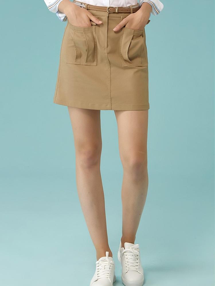 热带探险主题前风琴袋短裙