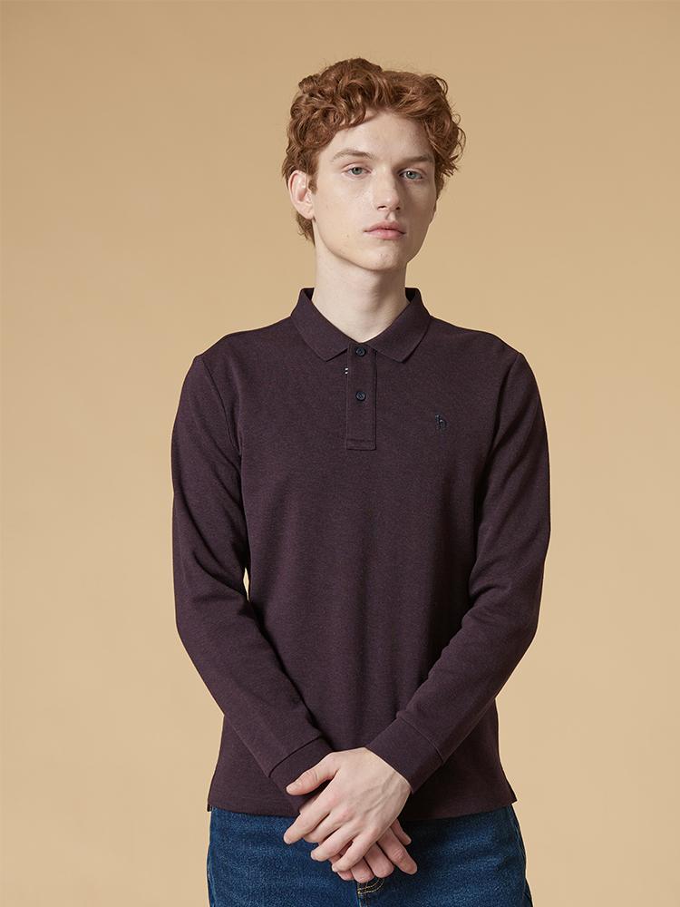 基础长袖Polo衫