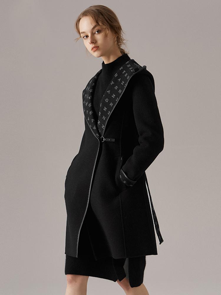 手工制作美丽诺羊毛大衣