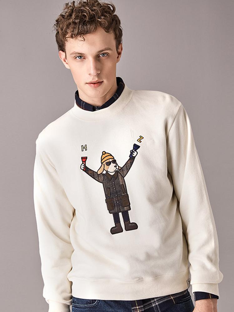贴布绣毛圈布phiz系列卫衣