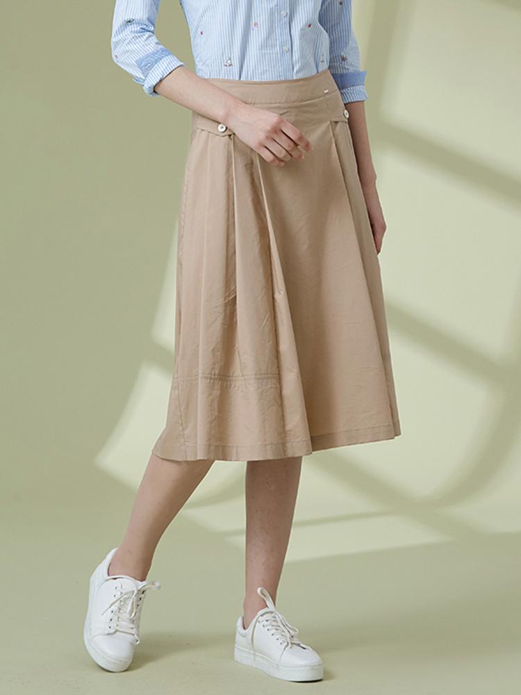 19SS异域风情高腰伞裙